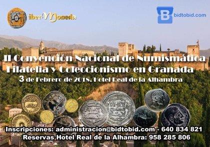 Granada será el próximo sábado epicentro nacional de la numismática, la filatelia y el coleccionismo