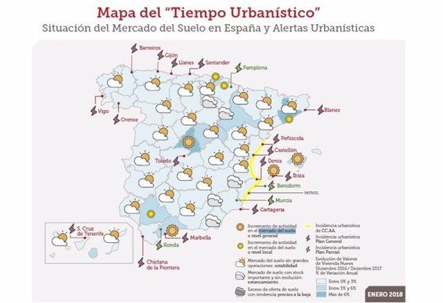 Mapa urbanístico de Sociedad de Tasación