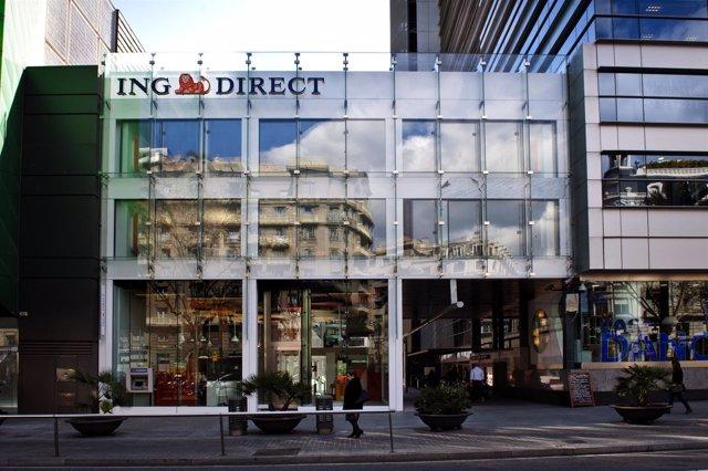 Oficina de ING Direct en Barcelona.
