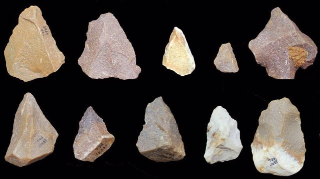 Piedras examinadas para el estudio