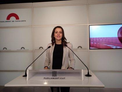 Arrimadas (Cs) pide a los independentistas reconocer que Puigdemont no va a ser presidente