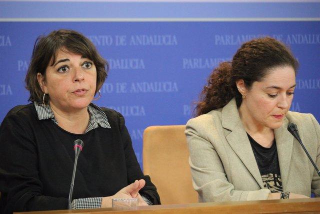 Elena Cortés e Inmaculada Nieto en rueda de prensa