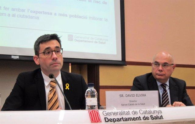 David Elvira (CatSalut) y Josep Tabernero (VHIO)