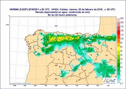 Activada la fase de alerta por nevadas en las carreteras del Estado en León, Palencia y Burgos