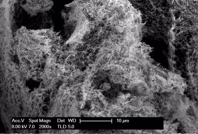 Nanoespuma asequible para dividir oxígeno e hidrógeno