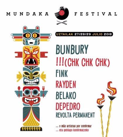!!! (Chk Chk Chk), Rayden, Belako y Revolta Permanent actuarán en Mundaka Festival