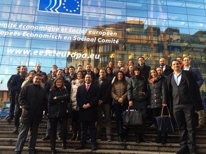 Diez empresas extremeñas se promocionan en Bruselas en una misión comercial organizada por la Cámara de Badajoz