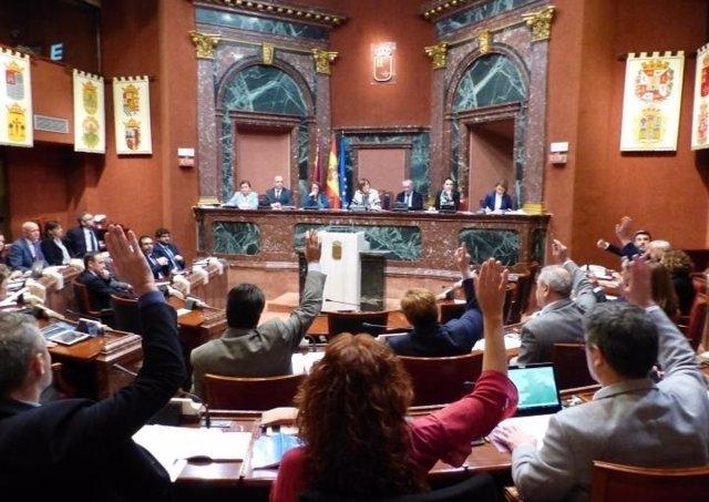Pleno de aprobación del decreto ley de medidas urgentes del Mar Menor