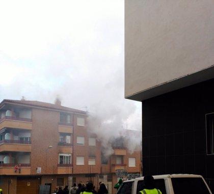 Diez personas atendidas por un incendio en una vivienda de Albelda de Iregua