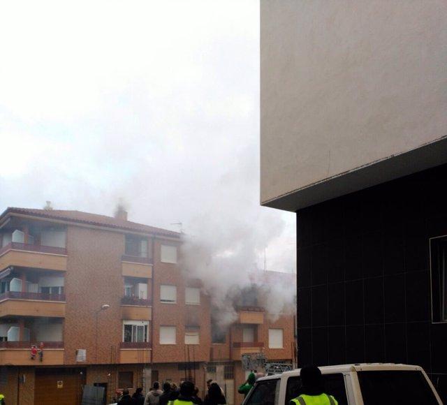 Incendio en Albelda