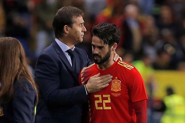 Julen Lopetegui Isco España selección española
