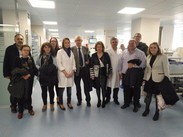 Visita al laboratorio del Complejo Hospitalario