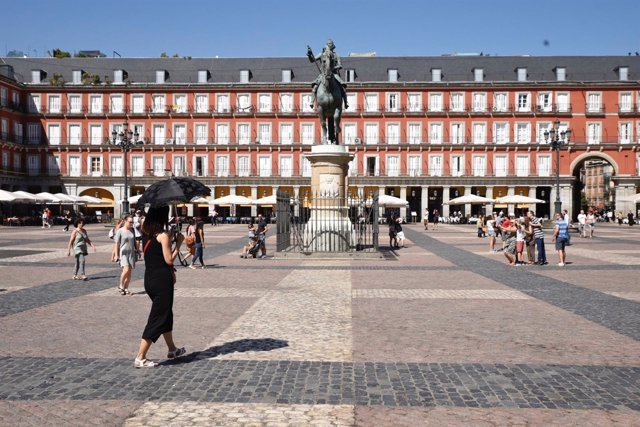 Turismo, turista, turistas, Plaza Mayor de Madrid