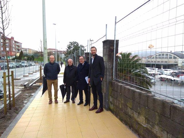 Visita a las obras de la avenida Fernando Arce