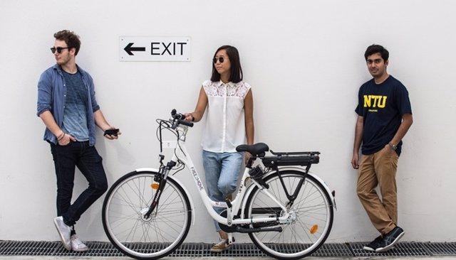 Bicicleta del servicios Free2Move Bikesharing (PSA) en Singapur