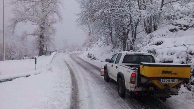 Nieve Asturias, nevada, temporal