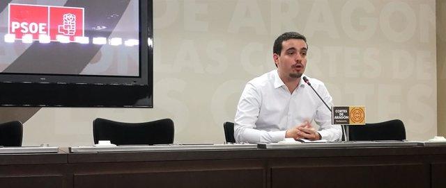 El diputado autonómico del PSOE Aragón Darío Villagrasa.