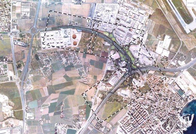 Plano del proyecto del tramo I de la Vía Conectora