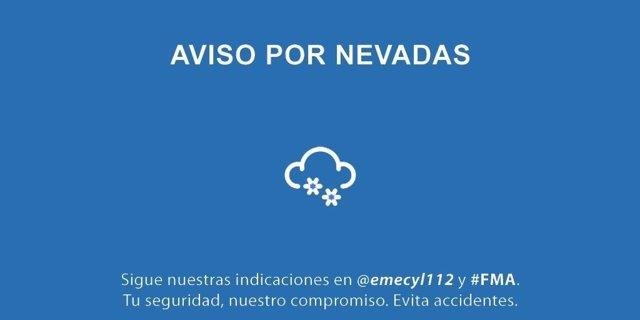 Aviso por nevadas en el norte de Castilla y León