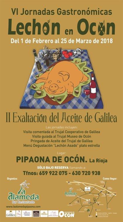 Este jueves comienzan las VI Jornadas Gastronómicas 'Lechón en Ocón'