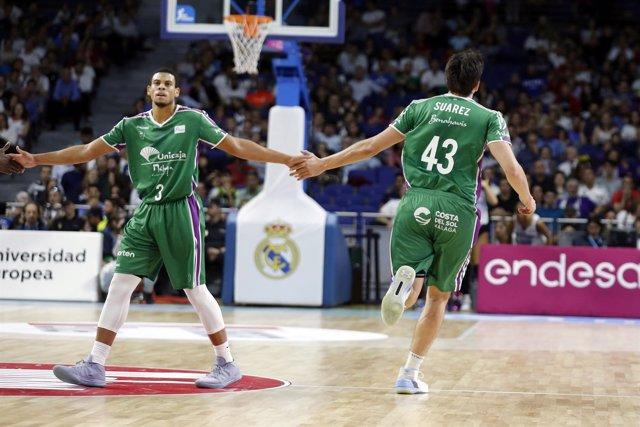 Ray McCallum y Carlos Suárez (Unicaja Málaga)