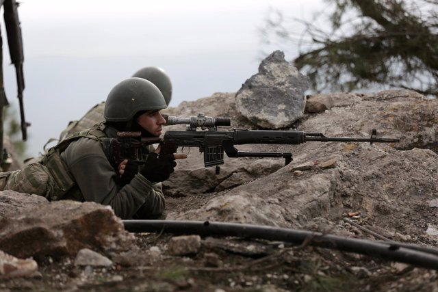 Fuerzas turcas que participan en la ofensiva de Afrin