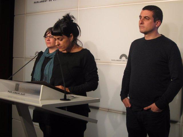 Mireia Boya, Anna Gabriel, Quim Arrufat (CUP)