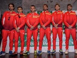 Equipo español de Copa Davis para jugar contra Gran Bretaña