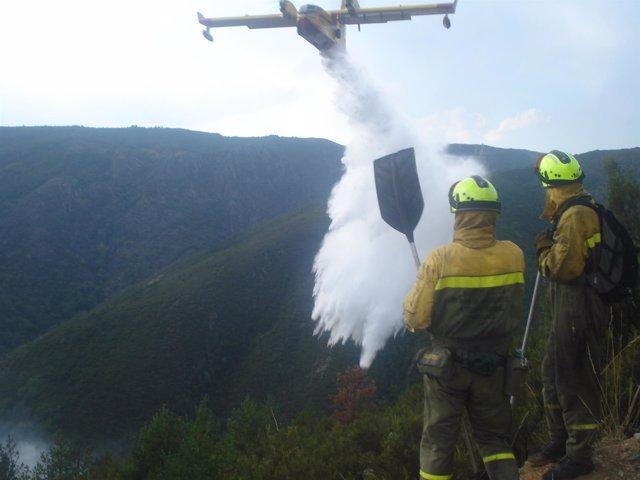Avión Canadair actuando en la extinción de un incendio en 2013
