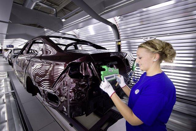 Producción de Volkswagen en la planta de Emden