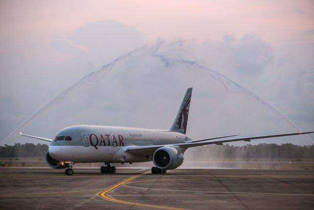 Llegada del 787 'Dreamliner' a Pattaya