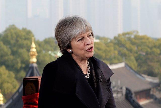 Theresa May visita China (febrero 2018)