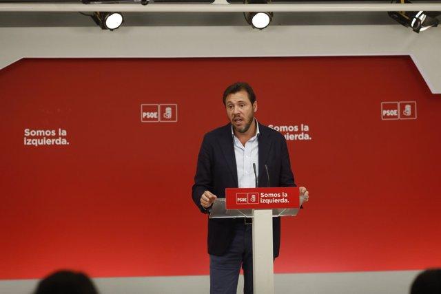 Rueda de prensa de Óscar Puente tras la reunión de la Ejecutiva Federal del PSOE