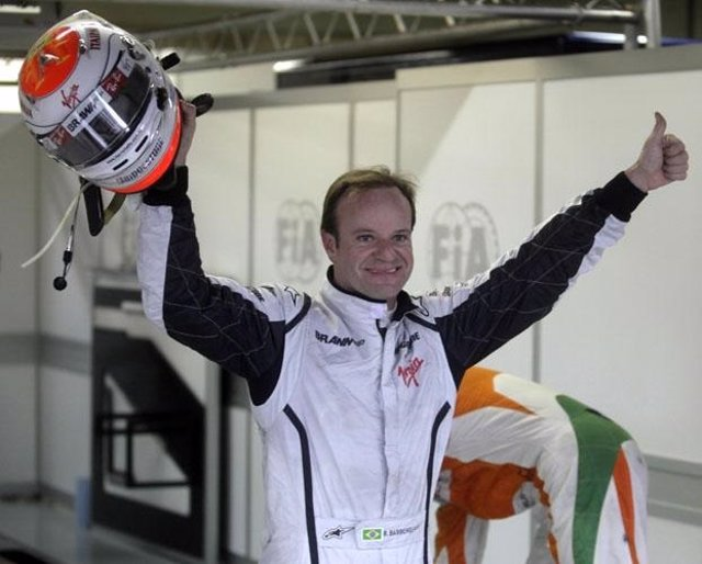 El piloto brasileño Rubens Barrichello
