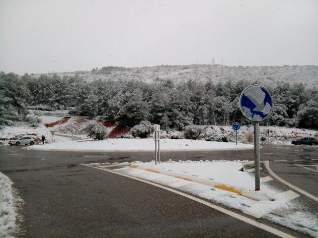 Nieve en el Port d'Albaida