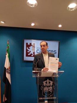 Rafael Mateos portavoz del Ayuntamiento de Cáceres