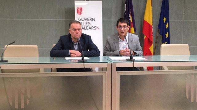 Negueruela y Poy en rueda de prensa valorando los datos del paro de enero