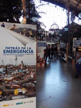 Exposición de Acción contra el Hambre en Atocha