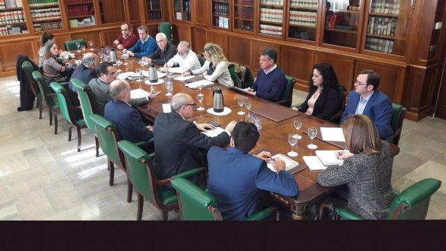 Reunión sobre la EDAR de Nerja (Málaga)