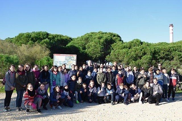Escolares en la Laguna Primera de Palos.