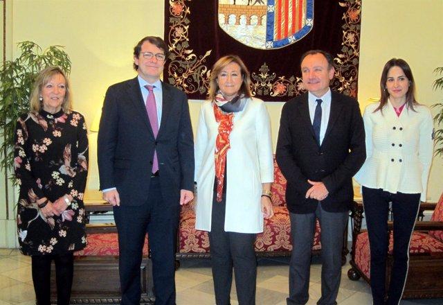 Fernández Mañueco  recibe a María José Ordóñez