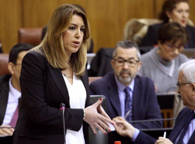 Susana Díaz, este viernes ante el Pleno del Parlamento