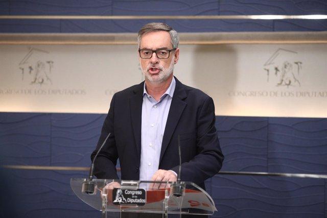 Rueda de prensa de José Manuel Villegas en el Congreso
