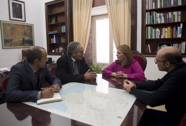 Reunión Diputación de Cádiz con delegación saharaui