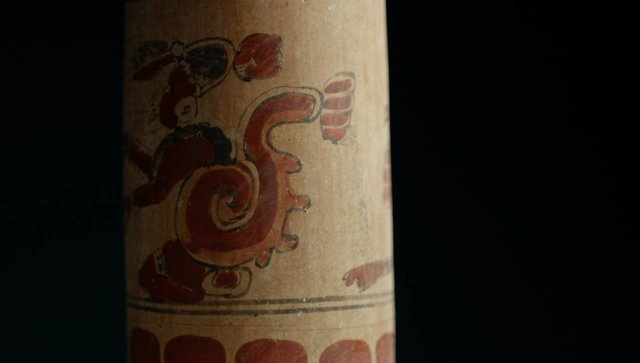 Peten jungle, Guatemala - a vase found in the royal tomb (Wild Blue Media)