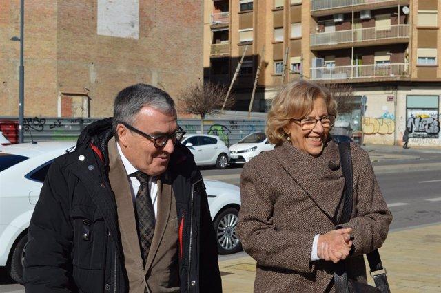 Àngel Ros y Manuela Carmena