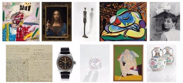Selección obras subastadas por Christie's en 2017