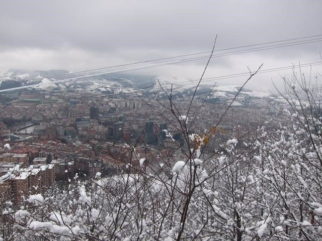 Más nieve en Bilbao