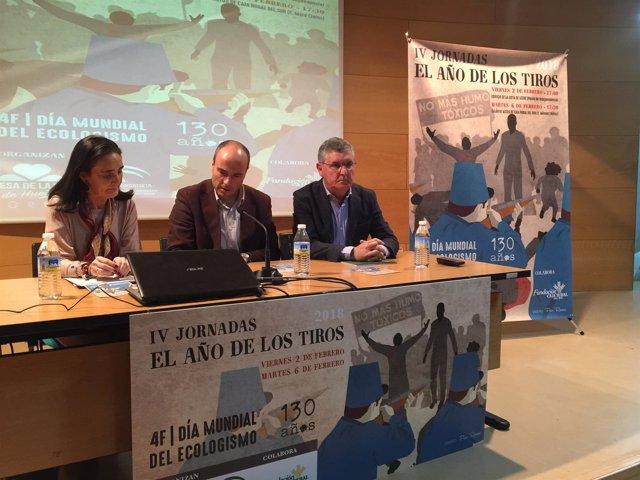 Inauguración de las jornadas del Año de los Tiros en Huelva.