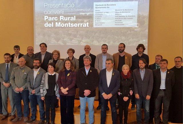 La Diputación de Barcelona y 16 municipios crean el Parque Rural de Montserrat